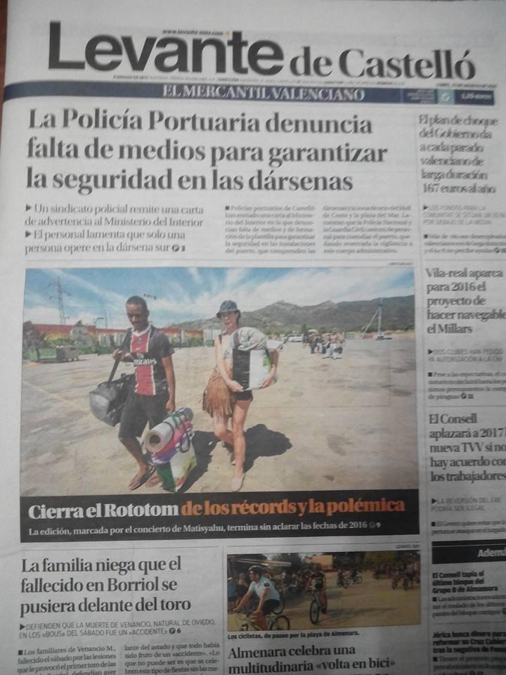 DENUNCIA REALIZADA POR EL SINDICATO SPPLB POR LA FALTA DE MEDIOS Y FORMACIóN EN LA POLICíA PORTUARIA DE CASTELLóN
